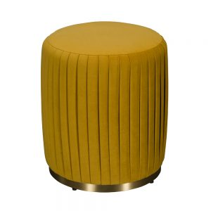 Pleated Ottoman - Available in 3 Colours