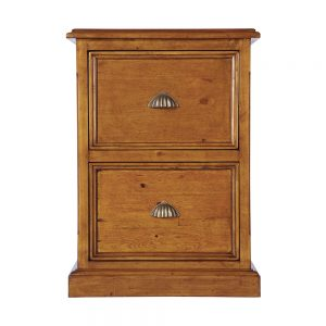 2 Drawer Wooden Office Filing Cabinet