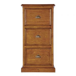 3 Drawer Wooden Office Filing Cabinet