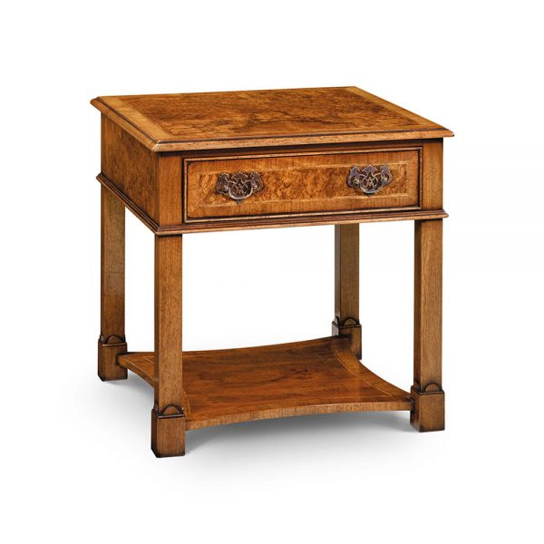 Iain James Tall End Table - Burr Walnut