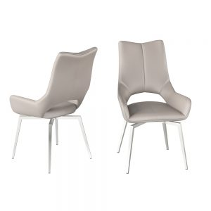 Spinello Swivel Chair - Taupe