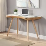 Smart Speaker Charging Desk - Oak / White