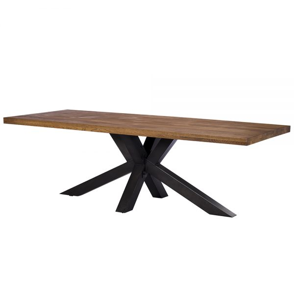 Soho 200cm Dining Table with 3 Cooper Dining Chairs and 1 Cooper Bench