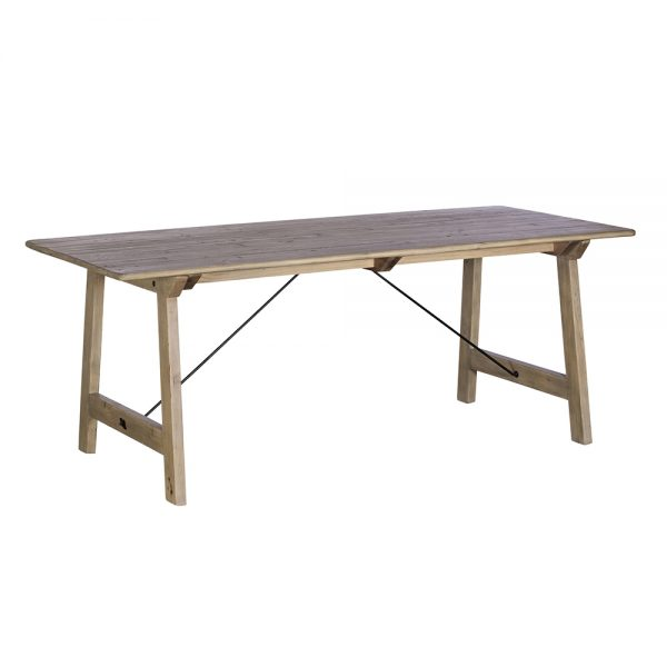 Valetta Dining Table with 3 Dalton Dining Chairs and Valetta Bench