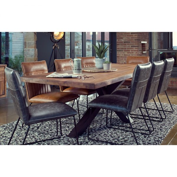 Soho 200cm Dining Table and 8 Cooper Dining Chairs