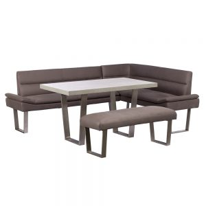 Petra 135cm Dining Table with the Petra Corner Sofa and Dining Bench