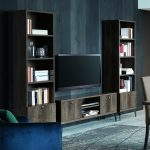 Vega Entertainment Wall Display with TV Unit and 2 Bookcases