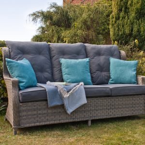 Reclining 3 Seater Garden Sofa