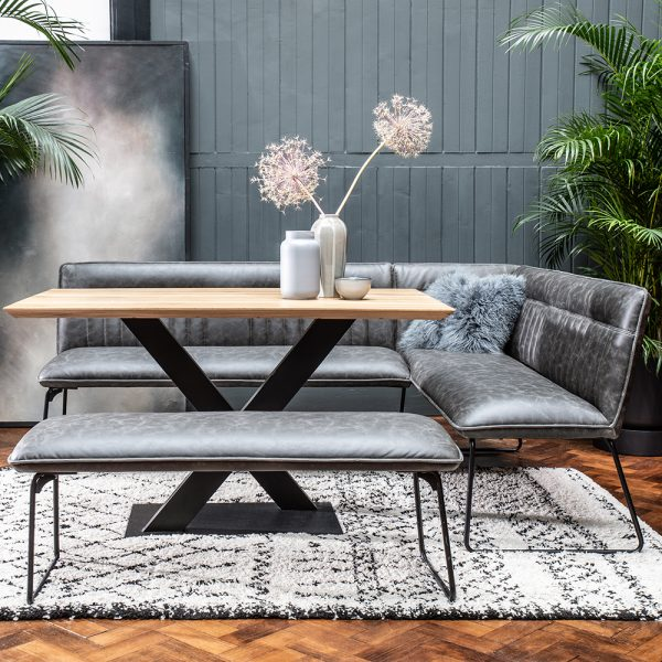 Shoreditch Corner Group Dining Set with Dining Table, Corner Bench and Dining Bench
