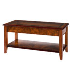 Walnut Collection Glass Top Lounge Coffee Table