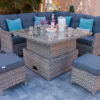 Petite Corner Dining Set with Adjustable Table Height