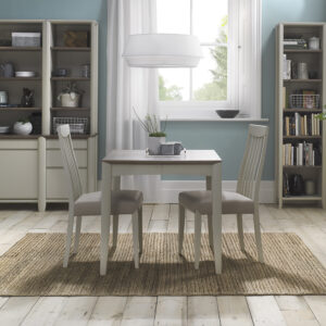 Bergen 2-4 Extending Dining Table Grey Washed Oak and Soft Grey