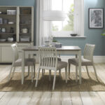 Bergen 4-6 Extending Dining Table Grey Washed Oak and Soft Grey