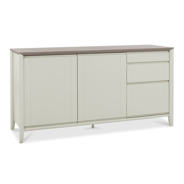 Bergen Wide Top Unit Grey Washed Oak and Soft Grey