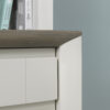 Bergen Side Table Grey Washed Oak and Soft Grey