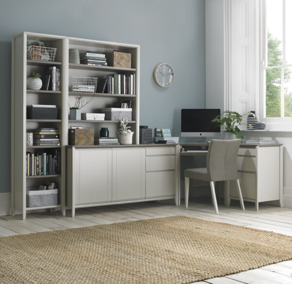 Bergen Nest of Tables Grey Washed Oak and Soft Grey